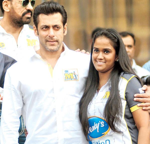 Doting Salman with Arpita