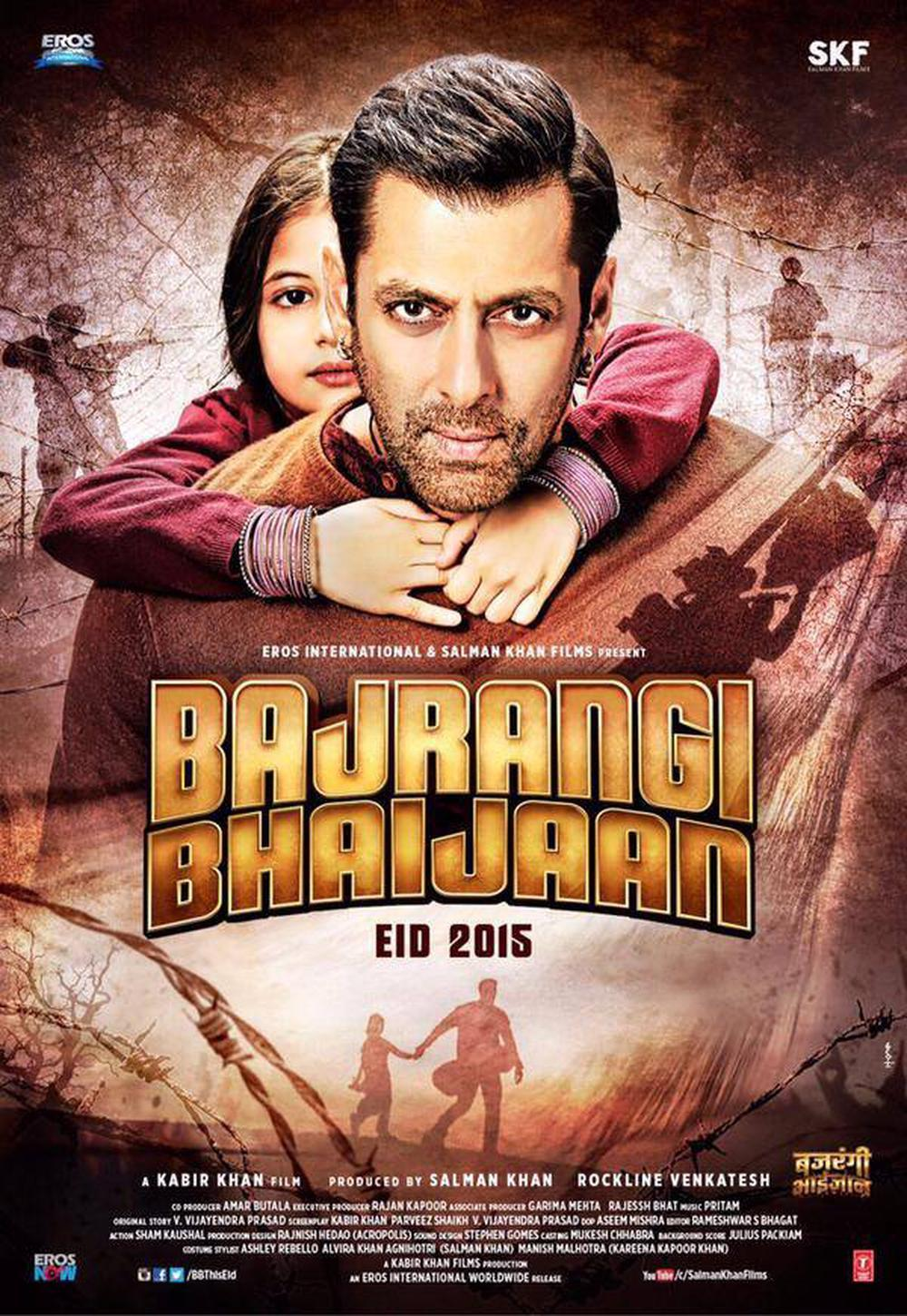"Poster for the movie ""Bajrangi Bhaijaan"""