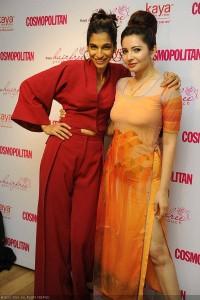 Anushka Manchanda and Shonali Nagrani pose during the Kaya Clinic event at Le Pain Quotidien, Colaba, in Mumbai.