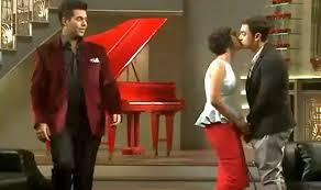 Aamir Khan and Kiran Rao locking their lip