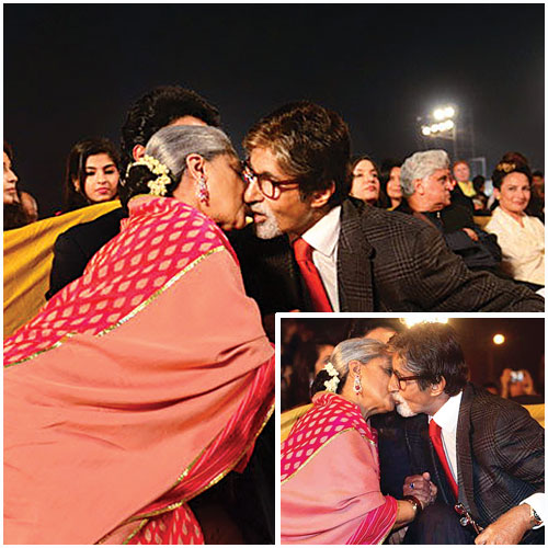 Amitabh Bacchan and Jaya Bacchan in a candid moment