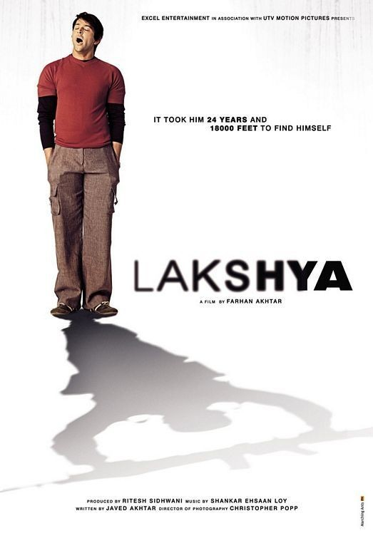 """Poster for the movie """"Lakshya"""""""