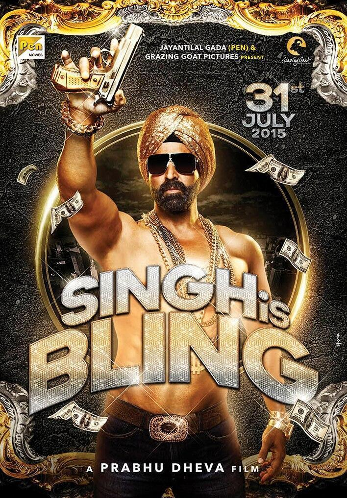 "Poster for the movie ""Singh Is Bling"""