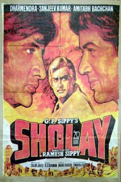 """Poster for the movie """"Sholay"""""""